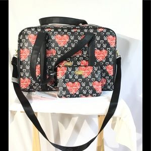 Luv Betsey By Betsey Johnson Weekender W/Wristlet